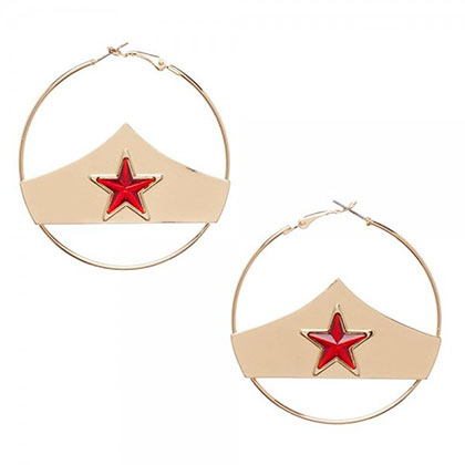 Boucles d'Oreilles Wonder Woman - Star