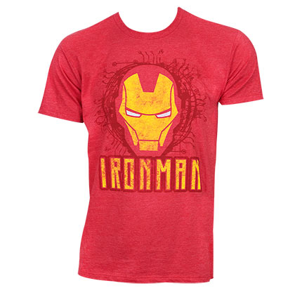 T-shirt Iron Man - Face Logo