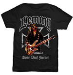 T-shirt Lemmy pour homme - Design: Iron Cross Stone Deaf Forever