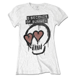 T-shirt 5 seconds of summer: Heart Skull