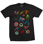T-shirt Marvel Comics: Random Badges