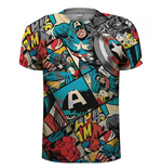 T-shirt Marvel Comics: Captain America Comic Strip