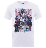 T-shirt Suicide Squad pour homme - Design: Suicide Squad Harley's Character Collage