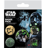 Star Wars Rogue One pack 5 badges Empire