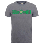 T-shirt Superheroes DC Comics pour homme - Design: Originals Green Lantern Crackle Logo