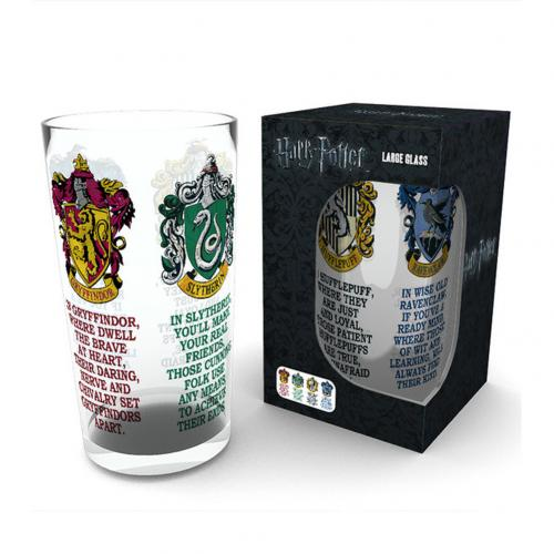 Verre Harry Potter - House Crests