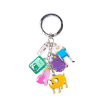 Porte-clés Adventure Time - Finn, Jake, Beemo, Lumpy, Chewing-Gum