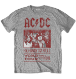 T-shirt AC/DC Edition Spéciale: Highway to Hell World Tour 1979/1980