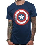 T-shirt Captain America: Civil War - Cap Shield Distressed