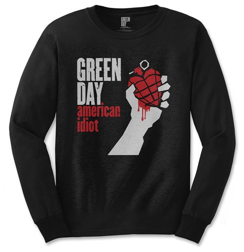 T-shirt Manches Longues Green Day: American Idiot