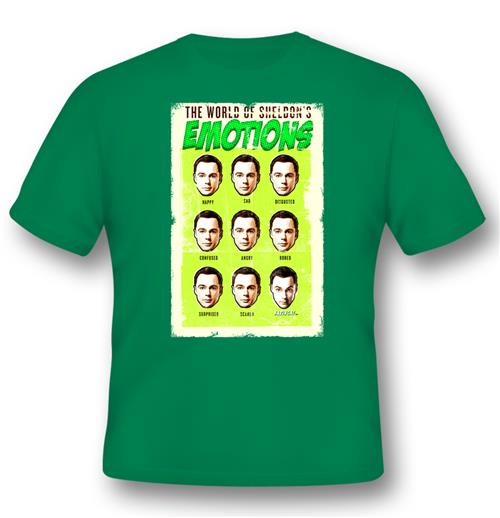 T-shirt The Big Bang Theory - World Of SHELDON'S Emotions