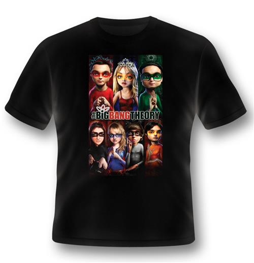 T-shirt Big Bang Theory - Superhero