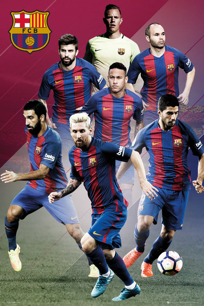Poster FC Barcelone Players 2016/17