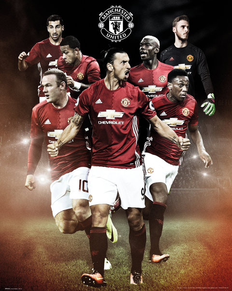 Poster Manchester United FC Joueurs 2016/2017