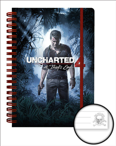 Cahier Uncharted 4 Cover