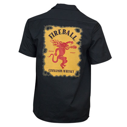 T-shirt Fireball Cinnamon Whisky 249604