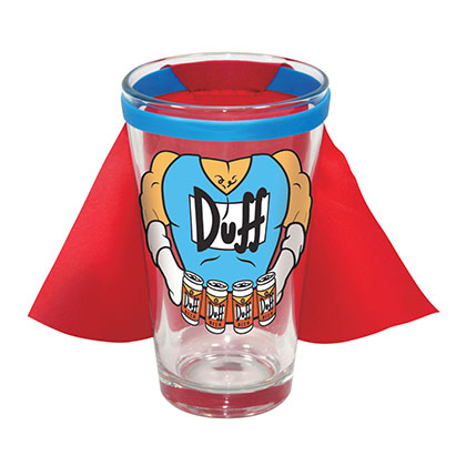 Verre Les Simpson - Caped Duff