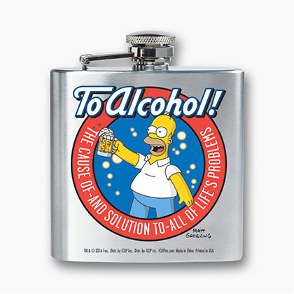 Flasque Les Simpson - To Alcohol!