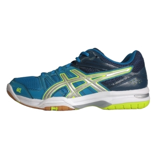 Chaussures de Volleyball GEL-ROCKET 7 Bleu/Jaune
