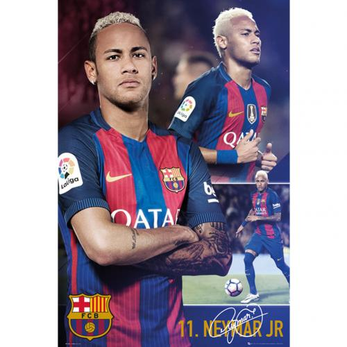 Poster FC Barcelone - Neymar Collage 66