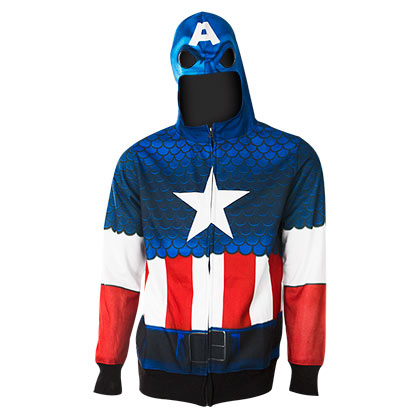 Sweat à Capuche Captain America - Costume