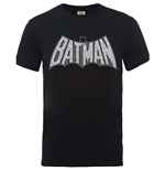 T-shirt Superheroes DC Comics pour homme - Design: Originals Batman Retro Crackle Logo