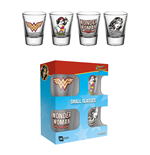 Wonder Woman Set 4 verres à liqueur 60´s Pop
