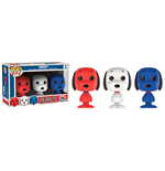 Peanuts pack 3 figurines Mini POP! Vinyl Snoopy Rock The Vote 4 cm