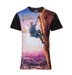 T-shirt The Legend of Zelda: Breath of the Wild - Link climbing