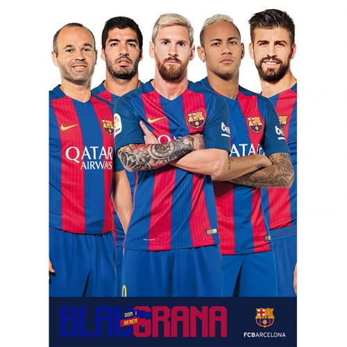 Poster FC Barcelone Players