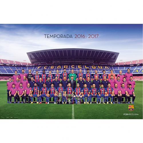 Poster FC Barcelone - Squad