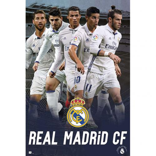Poster Real Madrid FC - Joueurs