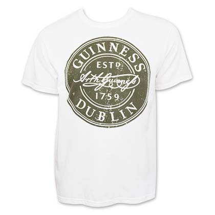 T-shirt Guinness - Bottle Cap Label
