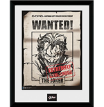 Photo Encadrée Batman Comic - Joker Wanted (30x40 Cm)