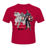 T-shirt Marvel Avengers Age Of Ultron - Captain A Draw