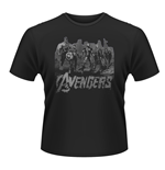 T-shirt Marvel Avengers Age Of Ultron - Team Art