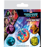 Les Gardiens de la Galaxie Vol. 2 pack 5 badges Cosmic