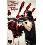 Poster The Walking Dead - Daryl Bloody Hand