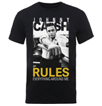 T-shirt Johnny Cash: Rules Everything