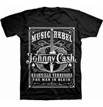 T-shirt Johnny Cash: Music Rebel