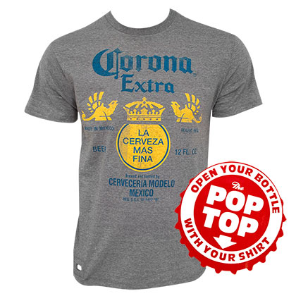 T-shirt Pop Top Corona Extra - Label