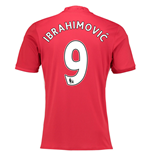 Maillot de Football Manchester United FC Home 2016-2017 (Ibrahimovic 9)