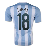 Maillot de Football Argentine Home 2015-2016 (Lamela 18) - Enfants