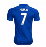 Maillot de Football Leicester City FC Home 2016-2017 (Musa 7) - Enfants