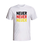 T-shirt Allemagne Football (Blanc)