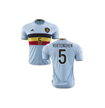Maillot de Football Belgique Away 2016-2017 (Vertonghen 5)
