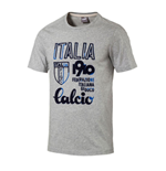 T-shirt de Football Italie Azzuri 2017-2018 (Gris Clair)