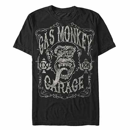 T-shirt Gas Monkey Garage - Vintage Monkey