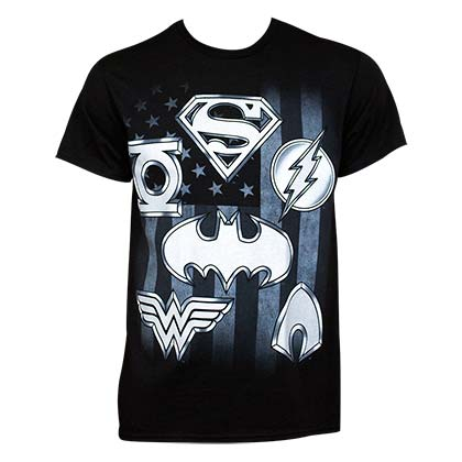 T-shirt Justice League - Superhero Logo