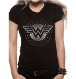 T-shirt Wonder Woman Film - Chrome Logo